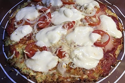 Low Carb Pizzaboden aus Blumenkohl 81