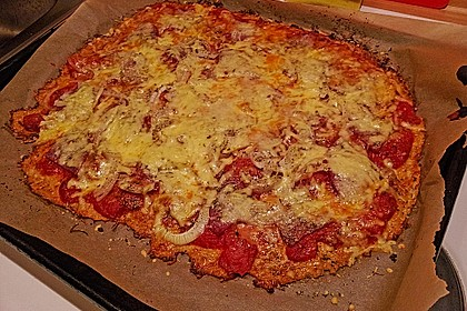 Low Carb Pizzaboden aus Blumenkohl 39