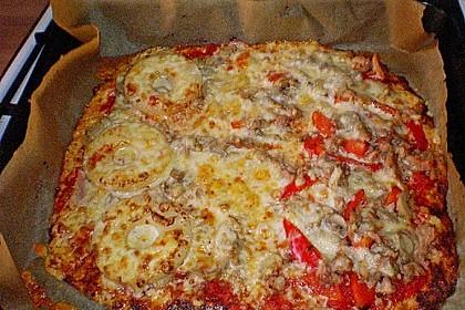 Low Carb Pizzaboden aus Blumenkohl 73
