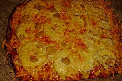 Low Carb Pizzaboden aus Blumenkohl 88