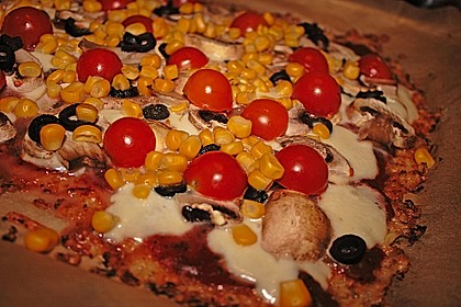 Low Carb Pizzaboden aus Blumenkohl 20