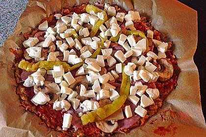 Low Carb Pizzaboden aus Blumenkohl 91