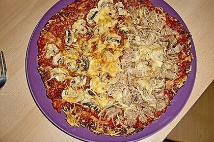 Low Carb Pizzaboden aus Blumenkohl 57