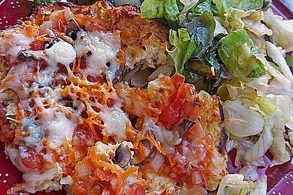 Low Carb Pizzaboden aus Blumenkohl 36