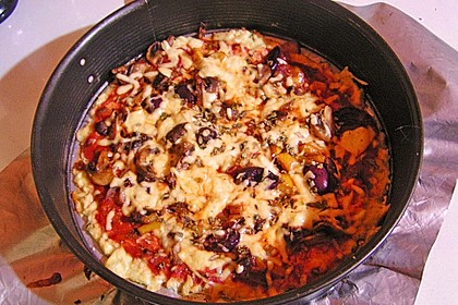 Low Carb Pizzaboden aus Blumenkohl 83