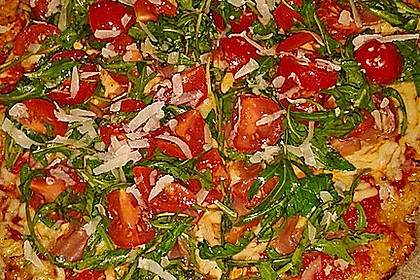 Low Carb Pizzaboden aus Blumenkohl 6