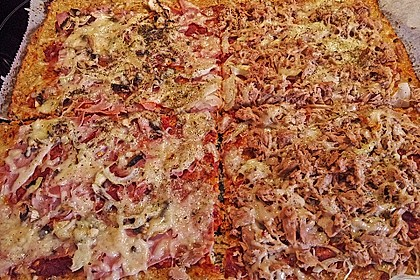 Low Carb Pizzaboden aus Blumenkohl 58