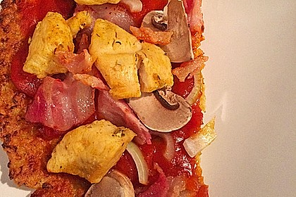 Low Carb Pizzaboden aus Blumenkohl 80