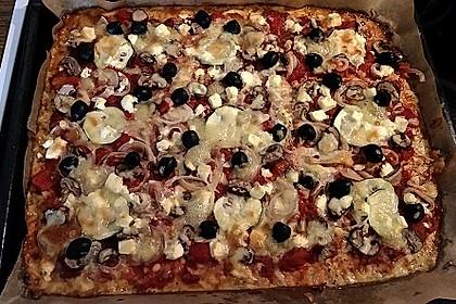 Low Carb Pizzaboden aus Blumenkohl 89