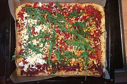 Low Carb Pizzaboden aus Blumenkohl 14