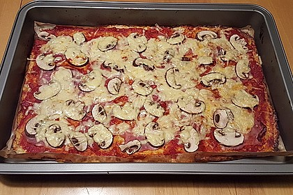 Low Carb Pizzaboden aus Blumenkohl 40