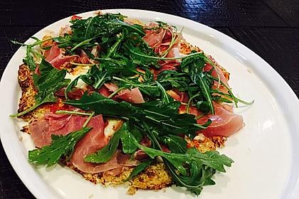 Low Carb Pizzaboden aus Blumenkohl 9