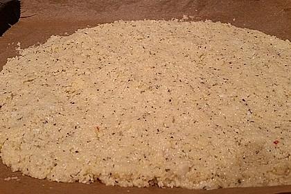 Low Carb Pizzaboden aus Blumenkohl 60