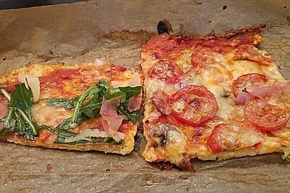 Low Carb Pizzaboden aus Blumenkohl 11