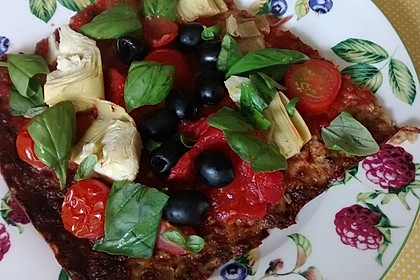 Low Carb Pizzaboden aus Blumenkohl 30