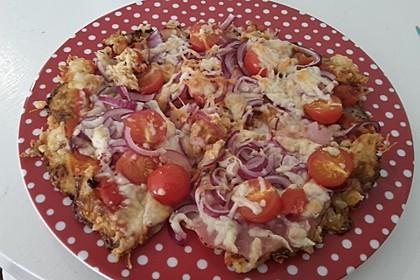 Low Carb Pizzaboden aus Blumenkohl 74