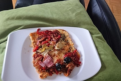 Low Carb Pizzaboden aus Blumenkohl 69