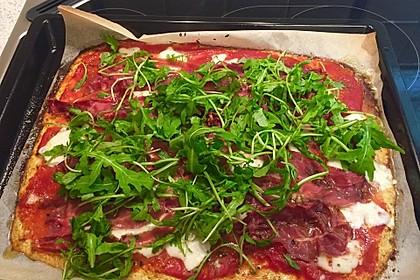 Low Carb Pizzaboden aus Blumenkohl 17