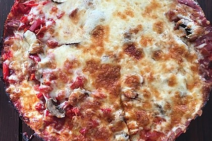 Low Carb Pizzaboden aus Blumenkohl 63