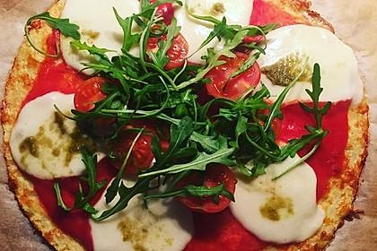 Low Carb Pizzaboden aus Blumenkohl 93