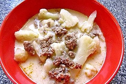 Blumenkohl-Käse Suppe nach Odinette 7