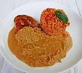 Schnitzel in Paprikarahm