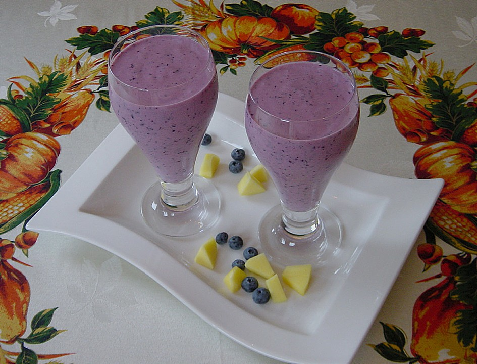 Blueberry-Mango Smoothie (Rezept mit Bild) von Pumpkin-Pie | Chefkoch ...