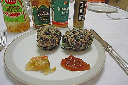 Frittierte Spinatbällchen
