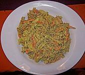 Möhren-Frischkäse Nudeln (Bild)