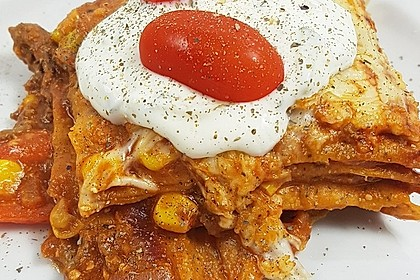 Mells mexikanische Enchilada-Lasagne 9