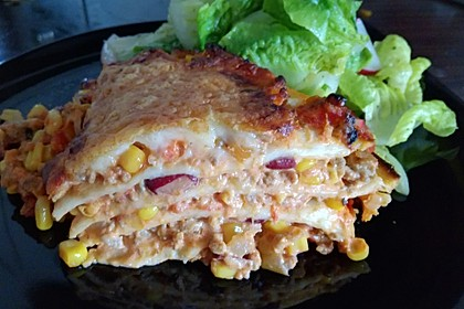 Mells mexikanische Enchilada-Lasagne 3