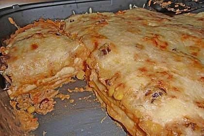 Mells mexikanische Enchilada-Lasagne 44