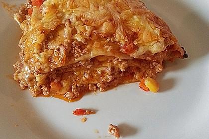 Mells mexikanische Enchilada-Lasagne 14