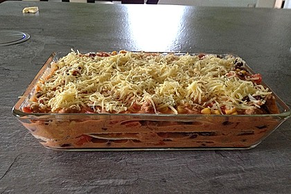 Mells mexikanische Enchilada-Lasagne 18