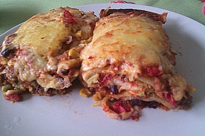 Mells mexikanische Enchilada-Lasagne 87