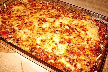 Mells mexikanische Enchilada-Lasagne 15