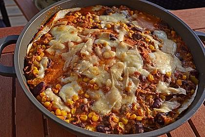 Mells mexikanische Enchilada-Lasagne 10
