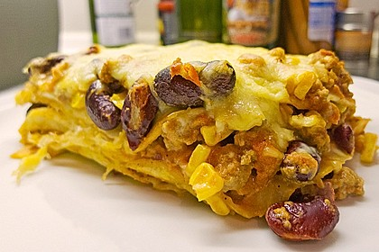 Mells mexikanische Enchilada-Lasagne 12