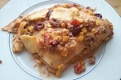 Mells mexikanische Enchilada-Lasagne 23
