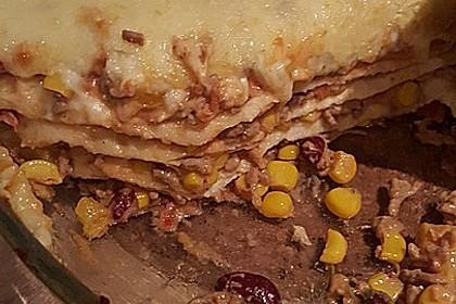 Mells mexikanische Enchilada-Lasagne 53