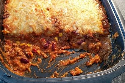 Mells mexikanische Enchilada-Lasagne 16