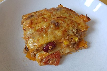 Mells mexikanische Enchilada-Lasagne 33