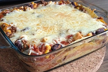 Mells mexikanische Enchilada-Lasagne 41