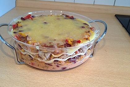 Mells mexikanische Enchilada-Lasagne 11