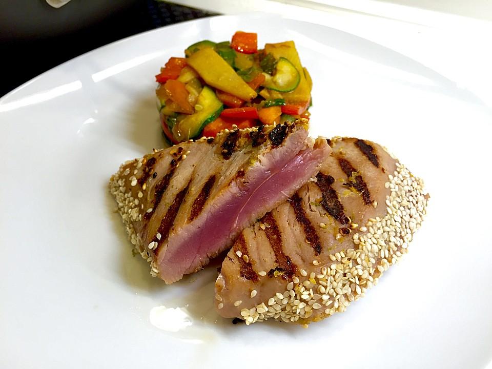 Rezepte thunfisch in sesamkruste