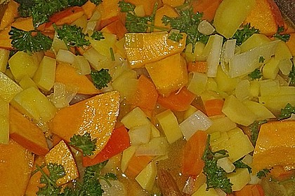 Sättigender Kürbis-Kartoffel Eintopf 2