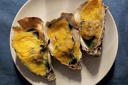 Austern, gratiniert