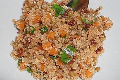 Couscous-Salat mit Linsen