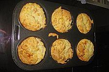 Schinken-Feta Muffins mit Ziegenfrischkäse