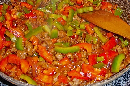 Reis-Hackfleischpfanne mit Paprika 13